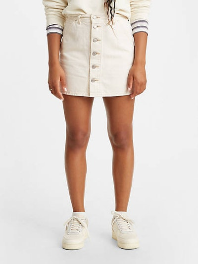 Button Front Utility Skirt