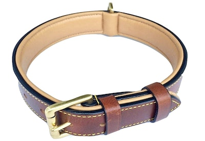 Soft Touch Collars Luxury Leather Padded Dog Collar