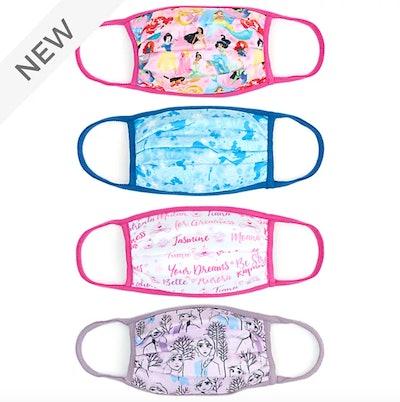 Disney Store Disney Princess Cloth Face Coverings, Pack of 4