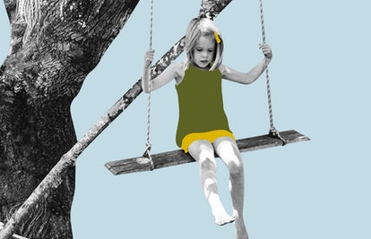 A child on a tree swing