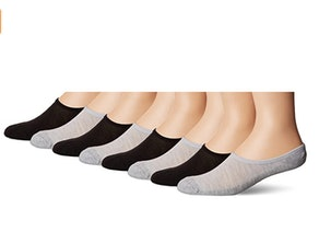 Fruit of the Loom Men's Invisible No Show Breathable Liner Socks (4-Pack)
