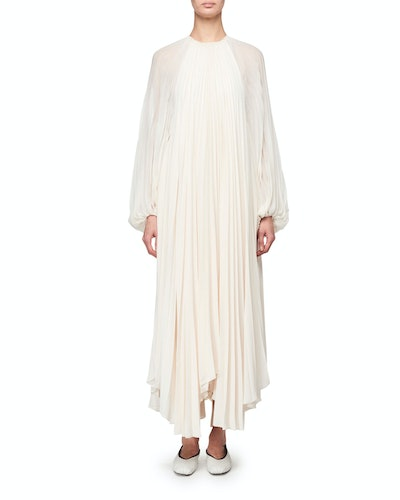 Martina Knife Pleated Full-Sleeve Dress