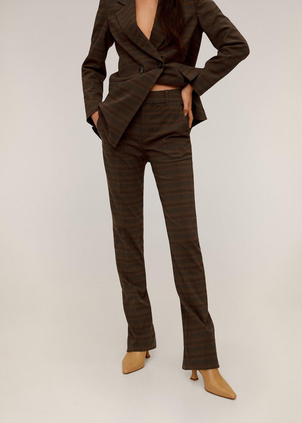 Check Suit Pants