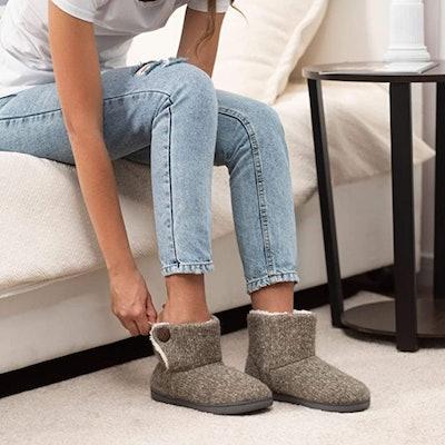ULTRAIDEAS Woven Bootie Slippers