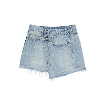 Rap Asymmetrical Mini Skirt