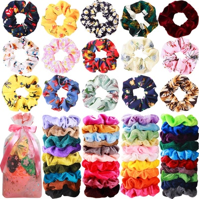 Mandydov Hair Scrunchies (54-Pack)