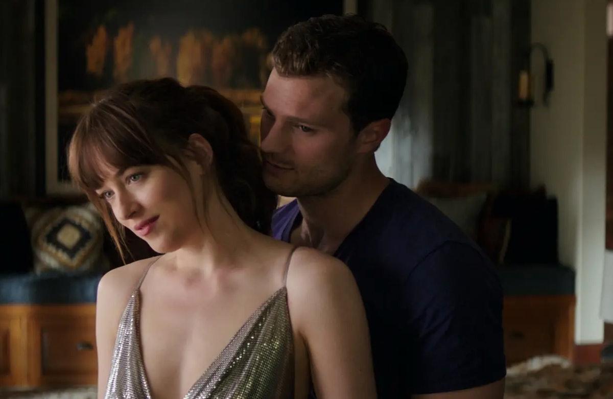 Dakota Johnson as Anastasia Steele and Jamie Dornan as Christian Grey in the 'Fifty Shades of Grey' trilogy movies