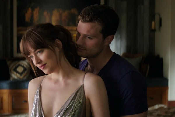 Dakota Johnson as Anastasia Steele and Jamie Dornan as Christian Grey in the 'Fifty Shades of Grey' trilogy movies
