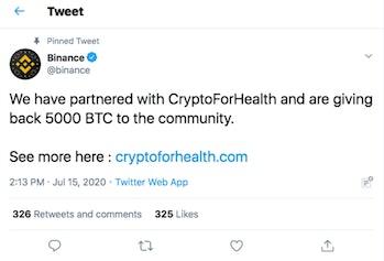 Binance Twitter Hack