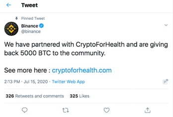 Binance Twitter Hack