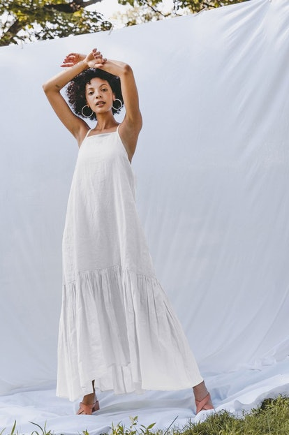 Infinity Flounce Dress - Bright White