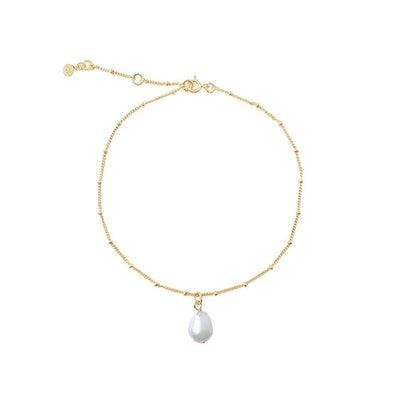 Gold Pearl Anklet Chain