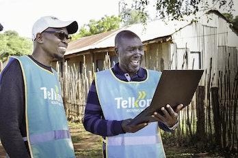 Telkom Kenya employees monitoring a Loon launch.