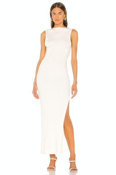 Noir Et Blanc Midi Dress