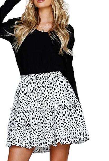 Relipop Flared Polka Dot Skirt