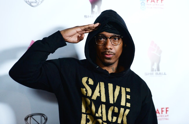 "Director Nick Cannon arrives at the 28th Annual Pan African Film Festival - ""She Ball"" Premiere at Cinemark Baldwin Hills on February 21, 2020 in Los Angeles, California."