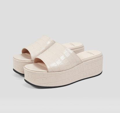 Mischa Embossed Leather Sandals