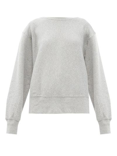 Loopback-Cotton Sweatshirt