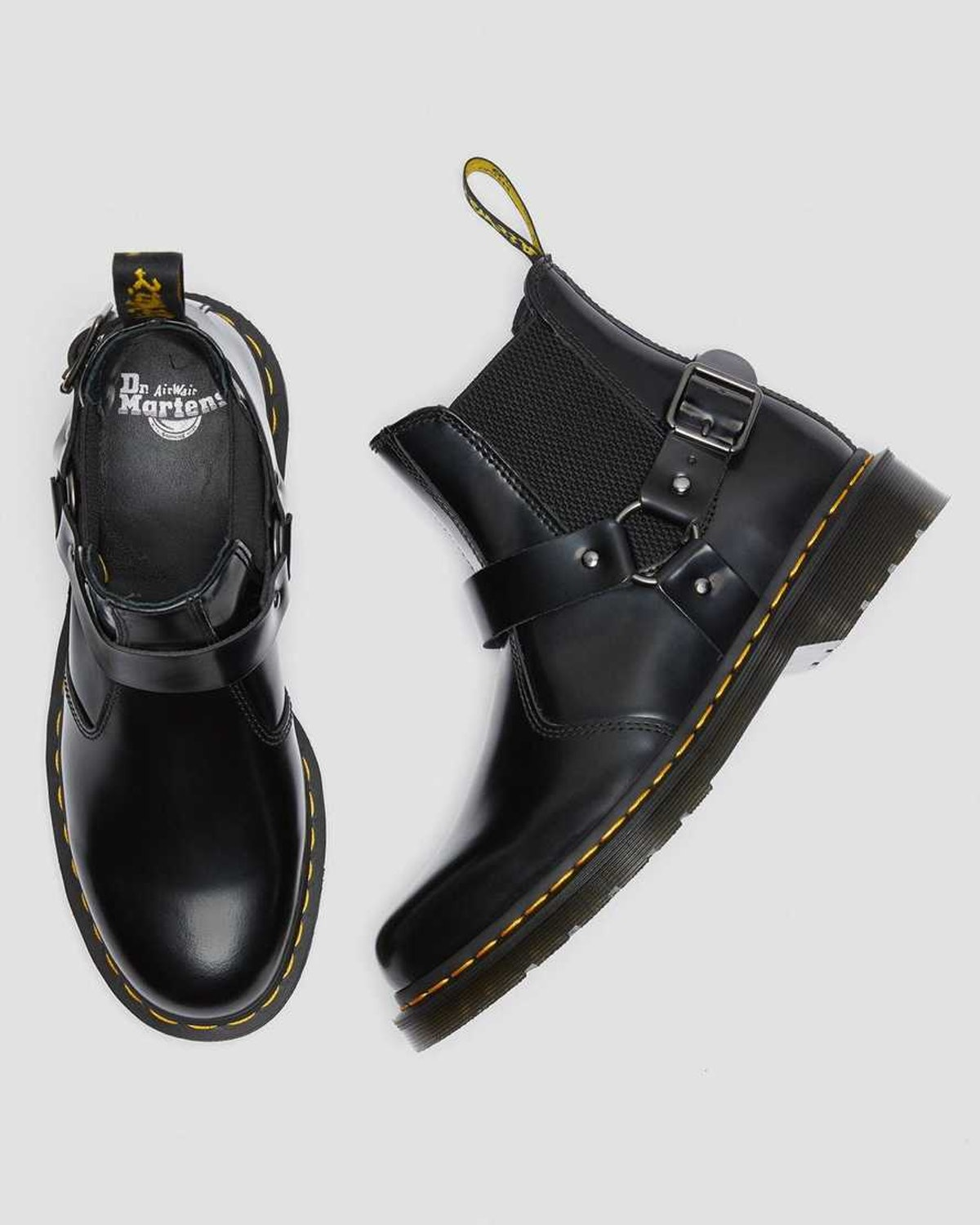 Dr. Martens Wincox Smooth Leather Buckle Boots