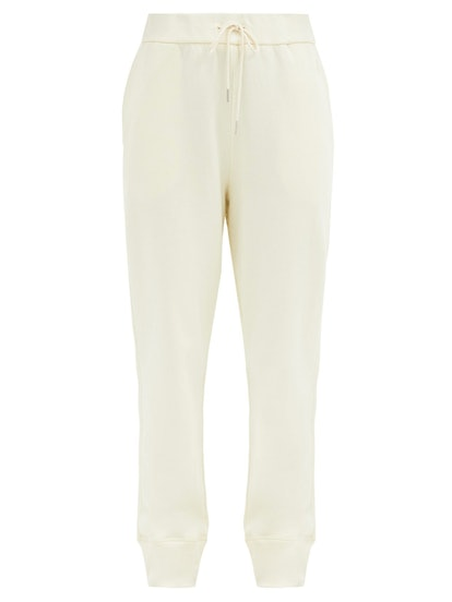 Drawstring-Waist Organic-Cotton Track Pants