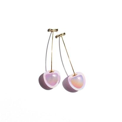 I'MMANY London Iridescent Cherry Drop Earrings