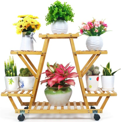Foldify Bamboo Rolling Plant Stand