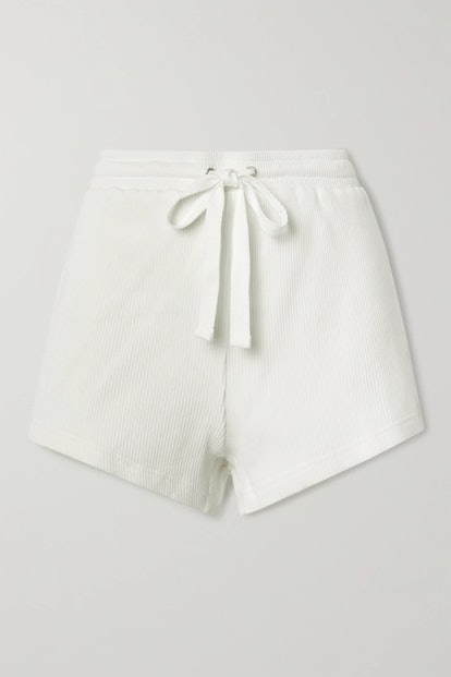 Ezi Ribbed Cotton-Jersey Shorts