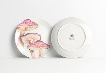 Mushroom Slate Plate