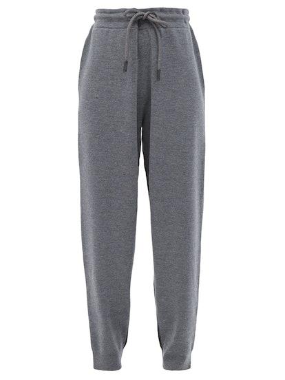 Fincham Two-Tone Merino-Wool Track Pants