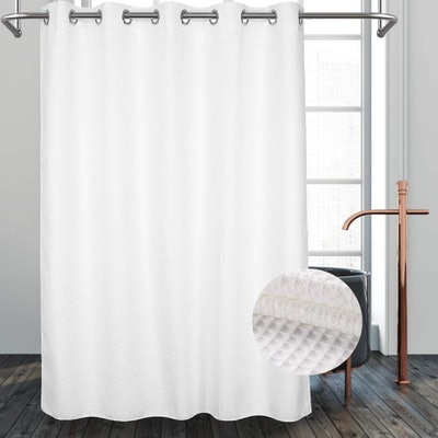 River Dream No Hooks Needed Shower Curtain with Snap in Liner
