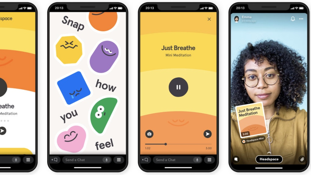 Here's how to use Snapchat's in-app meditation with Headspace for some soothing relaxation.
