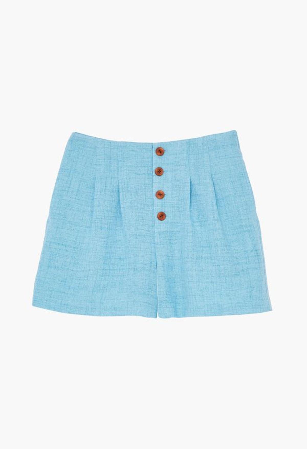 JustFab High Rise Pleated Shorts
