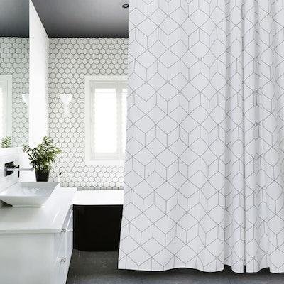 Aimjerry Cube Fabric Shower Curtain