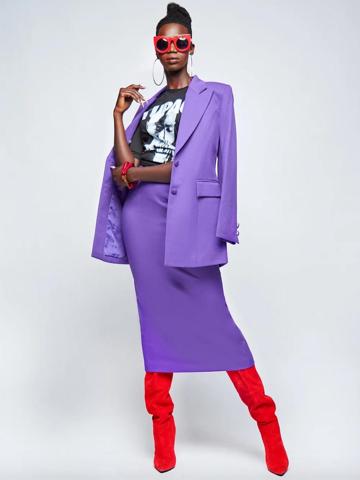 J.BOLIN Purple Slay 2-Piece Suit