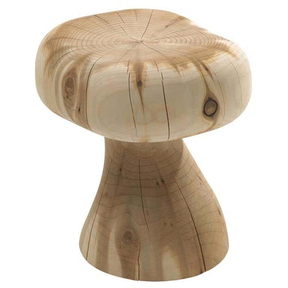 Mushroom Stool In Solid Cedar