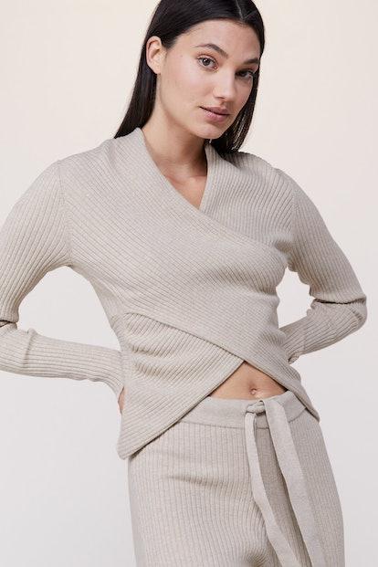 V Wrap Knit