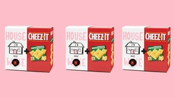 Cheez-It and House Wine are pairing for a cheese and wine combo box.
