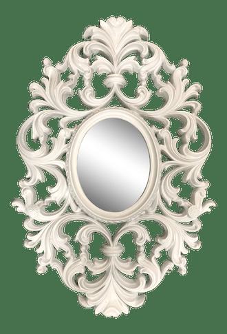 Vintage Scroll Oval Mirror