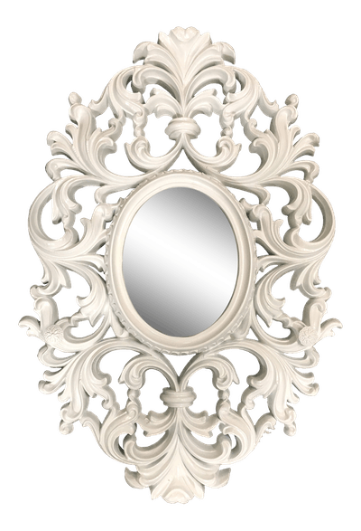 Vintage Scroll Oval Mirror