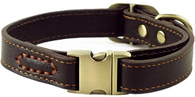 chede Luxury Leather Dog Collar