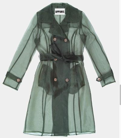 Organza Sheer Trench Coat