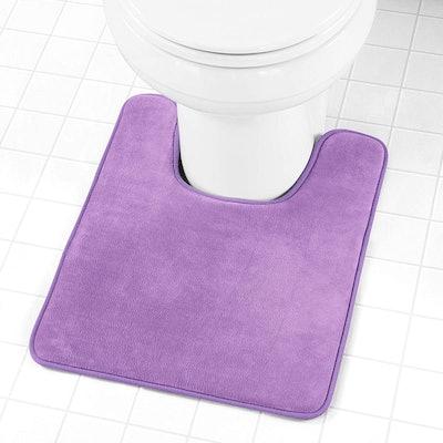 Genteele Memory Foam Toilet Bathroom Rug