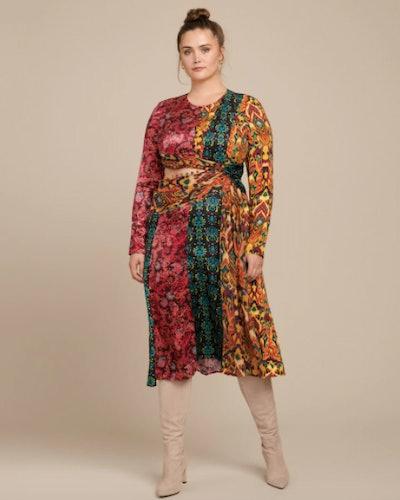 Taxila Long Sleeve Cut-Out Dress