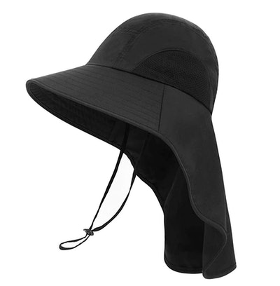 Toppers Foldable Flap Wide Brim Bucket Sun Hat