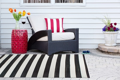 DII Reversible Striped Outdoor Rug