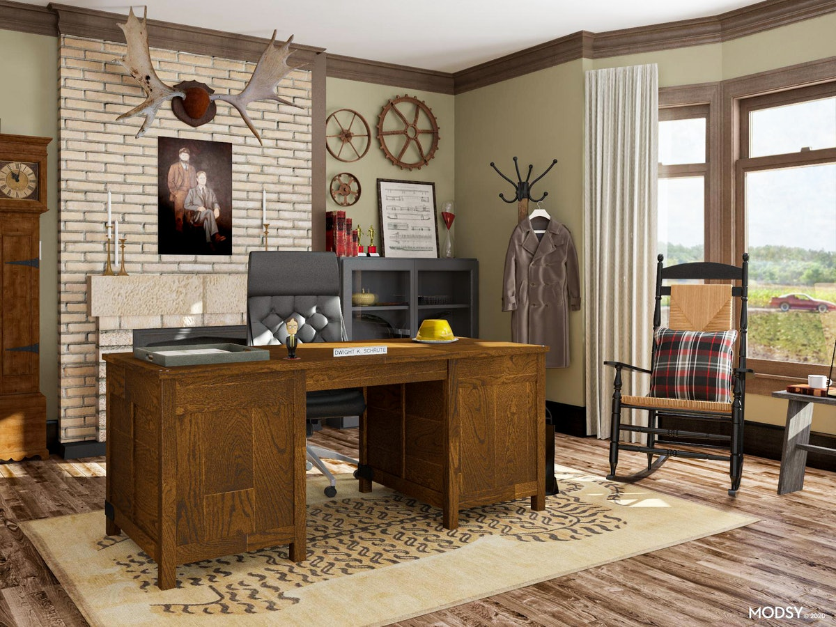 Modsy's 'The Office' Zoom backgrounds include Dwight Shrute's farmhouse.