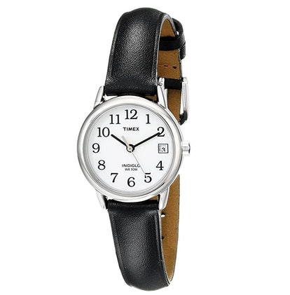 Timex Women's Indiglo Easy Reader Quartz Analog Leather Strap Watch