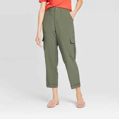 A New Day Mid-Rise Straight Leg Ankle Length Utility Pants