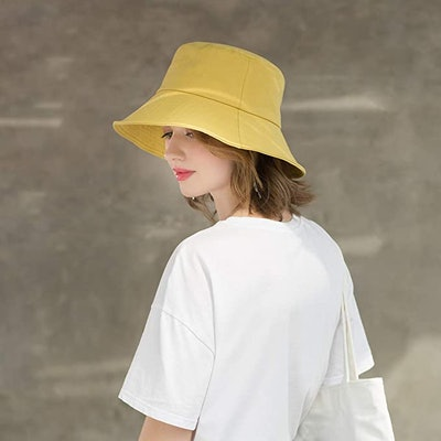 SOMALER Womens Cotton Wide Brim Sun Hat