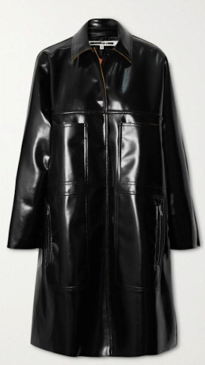 Glossed-PU Coat